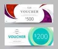 Geschenkgutscheinkarten-Schablonendesign für spezielle Zeit Kupon Temp Lizenzfreie Stockbilder