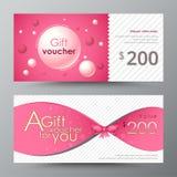 Geschenkgutscheinschablone Förderungskarte, Kupondesign Lizenzfreies Stockfoto