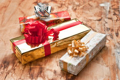 Geschenkkästen lizenzfreies stockbild