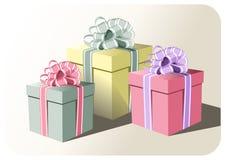 Geschenkkästen vektor abbildung