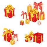 Geschenkkästen eingestellt Stockfoto
