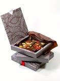 Geschenkkästen mit Schokolade Stockbild