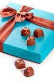 Geschenkkästen Schokoladen lizenzfreie stockfotografie