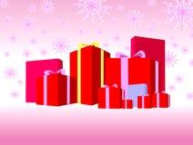 Geschenkkästen und Farbbänder 02 Lizenzfreie Abbildung