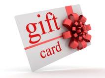 Geschenkkarte Stockfotografie