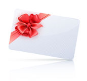 Geschenkkarte Lizenzfreie Stockbilder