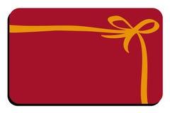 Geschenkkarte Lizenzfreies Stockfoto