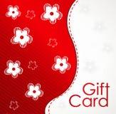 Geschenkkartenschablone mit Blumenauslegung Lizenzfreies Stockbild