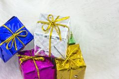 Geschenkkasten Stockfotos