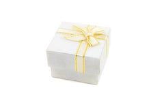 Geschenkkasten auf weißem Hintergrund Stockfoto