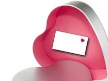 Geschenkkasten des Valentinsgrußes Stockbild