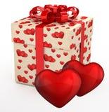 Geschenkkasten für Valentinstaggeschenke stock abbildung