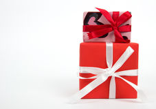 Geschenkkasten getrennt Raum für Text Stockbild