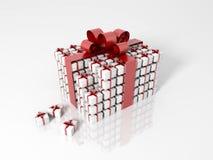 Geschenkkasten hergestellt von wenigen Geschenkkästen Lizenzfreie Stockfotos