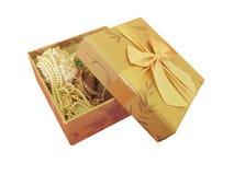 Geschenkkasten mit Bogen Stockfotos