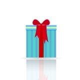 Geschenkkasten mit einem Bogen Stockfoto