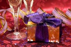 Geschenkkasten mit Inneren Lizenzfreie Stockfotos
