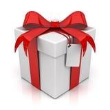 Geschenkkasten mit unbelegter Marke Stockbilder