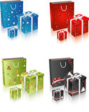 Geschenkkasten und -beutel Lizenzfreie Stockfotos