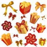 Geschenkkasten und -farbband Lizenzfreie Stockfotografie