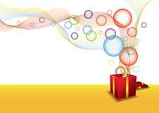 Geschenkkasten und -luftblase Lizenzfreies Stockfoto
