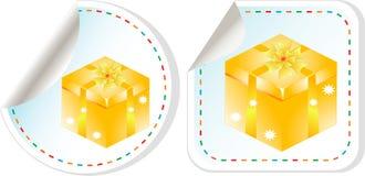 Geschenkkasten-Verkaufsauslegungset des vektorfeiertags modernes Lizenzfreie Stockfotografie