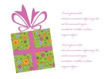 Geschenkkastenhintergrund Lizenzfreie Stockbilder