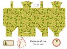 Geschenkkastenschablone. Lizenzfreie Stockbilder