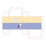Geschenkkastenschablone getrennt auf Weiß Lizenzfreies Stockbild