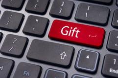Geschenkkonzepte oder Kaufen eines Geschenks Lizenzfreies Stockfoto