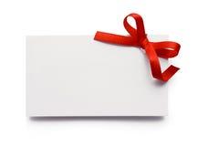 Geschenkmarke Stockfoto