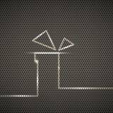 Geschenkmetallbeschaffenheitshintergrund vektor abbildung