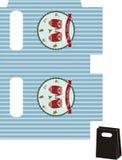 Geschenktasche frohe Weihnacht-Schablone Lizenzfreie Stockbilder