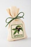 Geschenktasche mit Oliven Stockfotografie