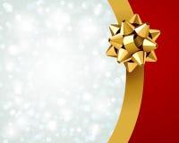 Geschenkverpackung und Bogenhintergrund Lizenzfreie Stockfotos