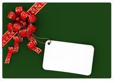 Geschenkzeichen Stockbild