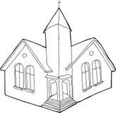 Geschetst Christian Church Stock Afbeeldingen