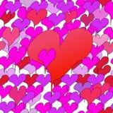 Geschetst liefjes naadloos patroon vector illustratie