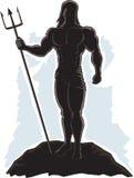 Geschetste Koning Neptune vector illustratie