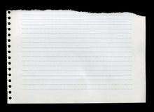 Gescheurd document Royalty-vrije Stock Foto