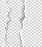 Gescheurd document transparant met ruimte voor tekst, vectorkunst en illustratie Stock Afbeeldingen