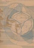Gescheurd draftcardboard Stock Fotografie