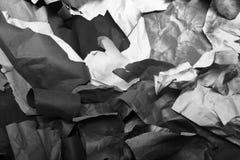 Gescheurd gekleurd document, textuur, achtergrond Stock Afbeelding