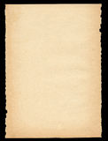 Gescheurd uit oud document Royalty-vrije Stock Afbeelding
