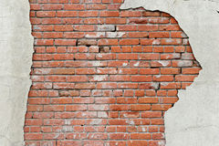 Gescheurde bakstenen muurachtergrond stock foto's