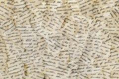 Gescheurde brieven royalty-vrije stock afbeelding