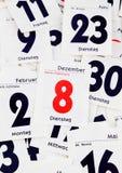 Gescheurde dagen van een kalender Royalty-vrije Stock Foto