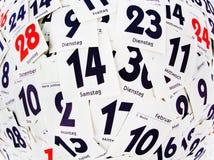 Gescheurde dagen van een kalender Stock Foto