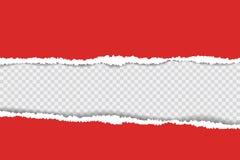 Gescheurde document achtergrond met ruimte voor tekst De het malplaatjevector van de ontwerpillustratie voor banner van Web-pagin Stock Foto's