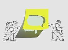 Gescheurde document bel voor tekst en omroepers vector illustratie